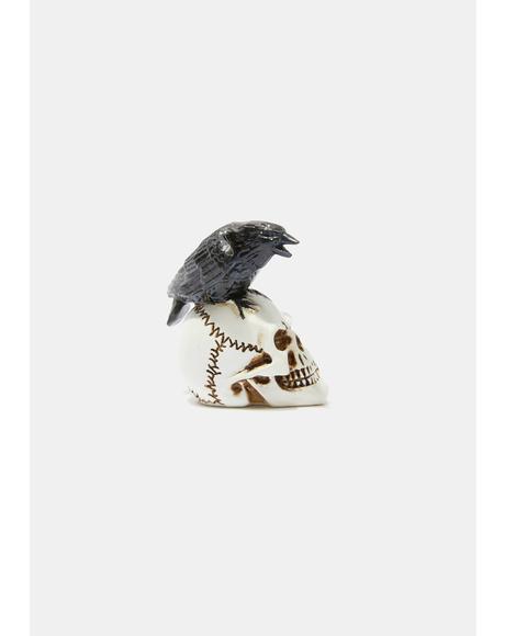 Raven Skull Miniature Model