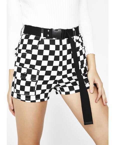 Rowdy Gang Checkered Shorts