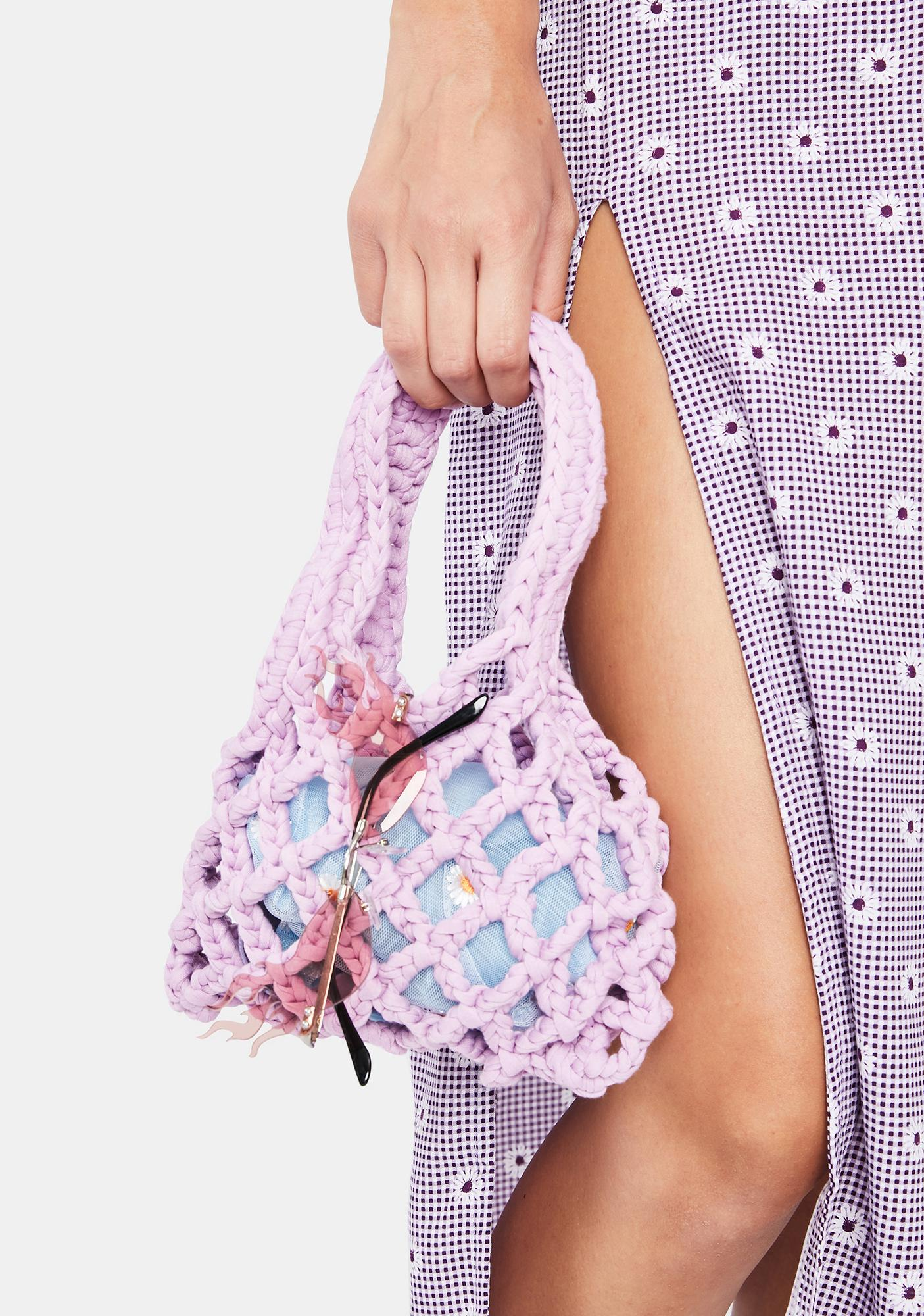 Lilac Essential Cutie Knit Handbag