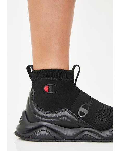 Black Rally Pro Sock Sneakers