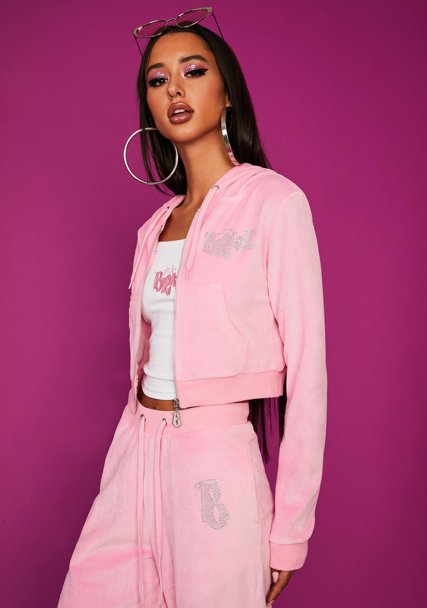 Dolls Kill x Bratz Keep It Glossy Velour Jacket