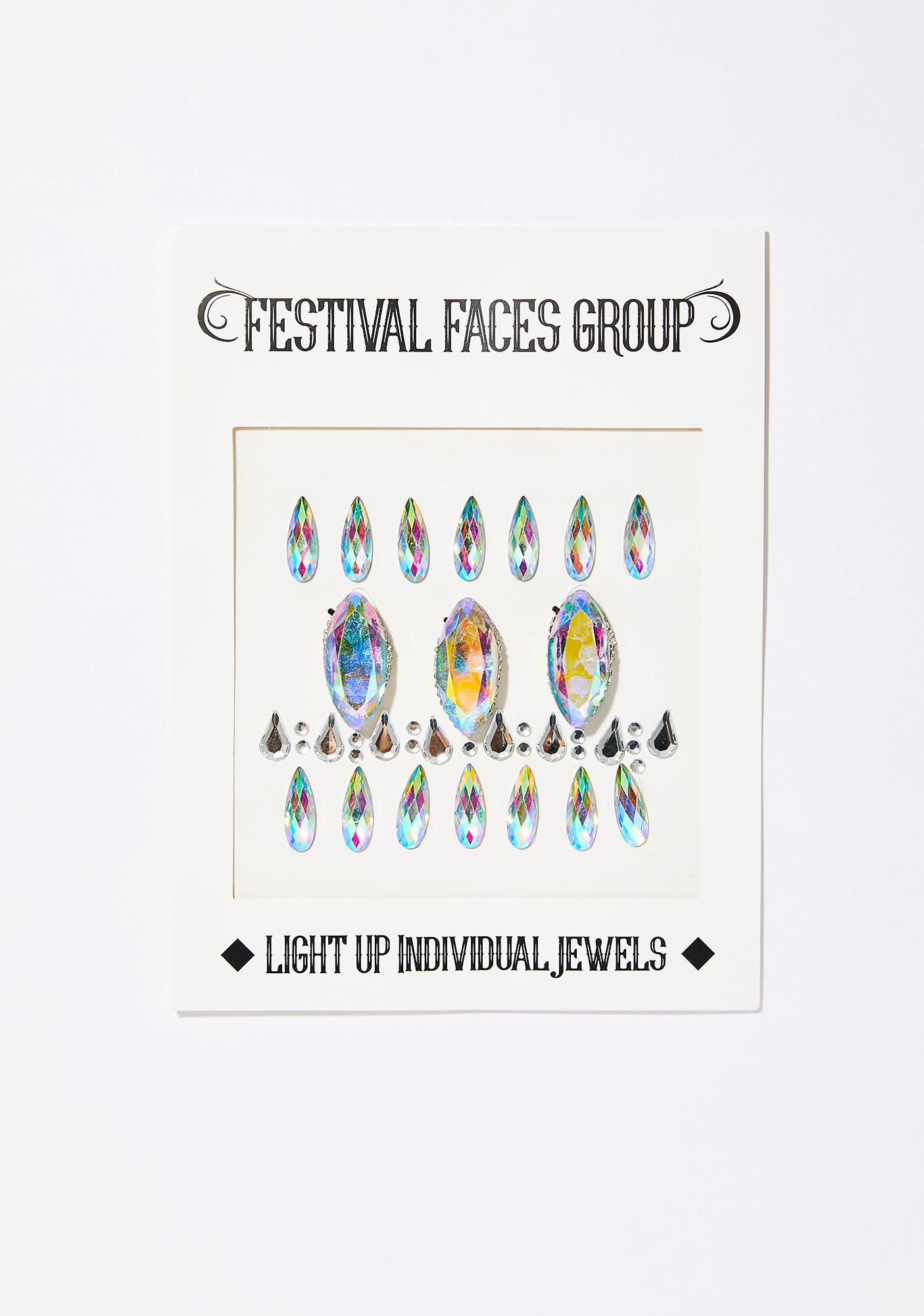 Festival Faces Group Light Up Individual Jewels