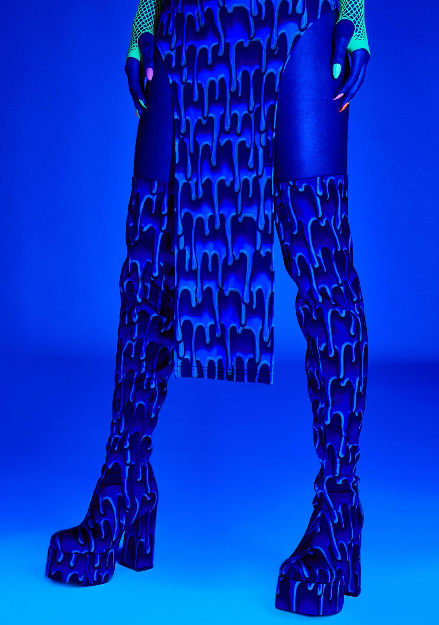 Club Exx Ooey Gooey Thigh High Boots