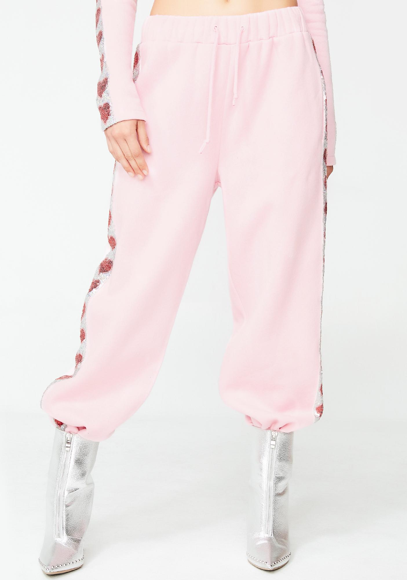 Jaded London Heart Sequin Sweat Joggers
