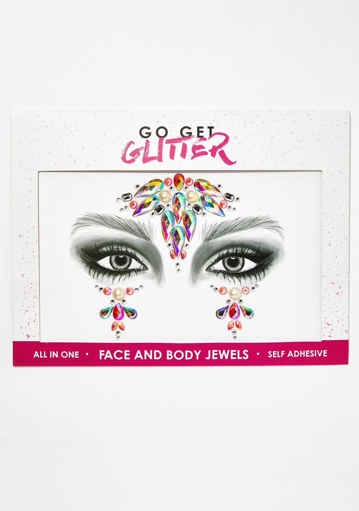Go Get Glitter Iridescent Unicorn Face Jewels