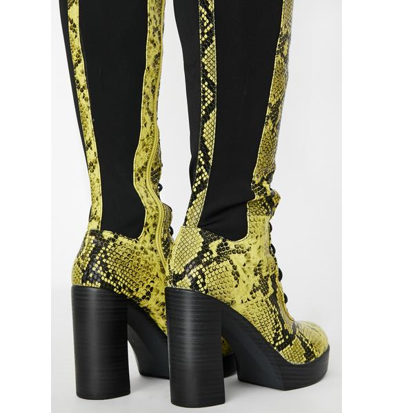 Chasing Danger Lace Up Boots