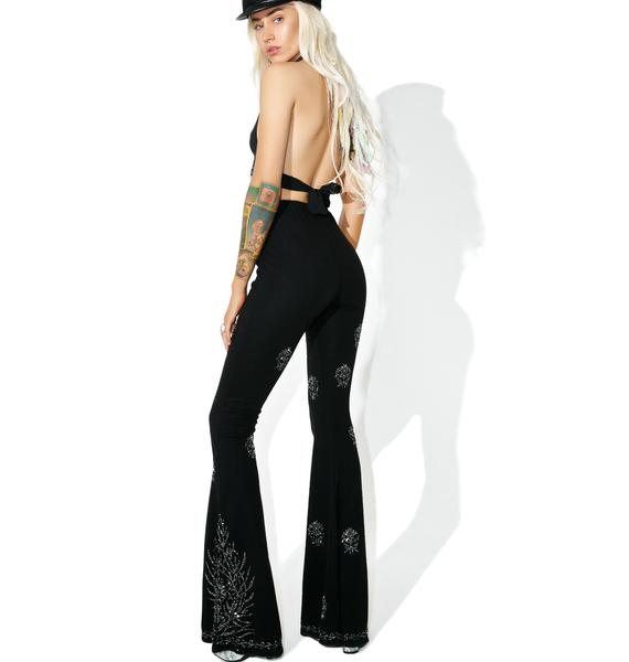 Current Mood Moonflower Beaded Flares