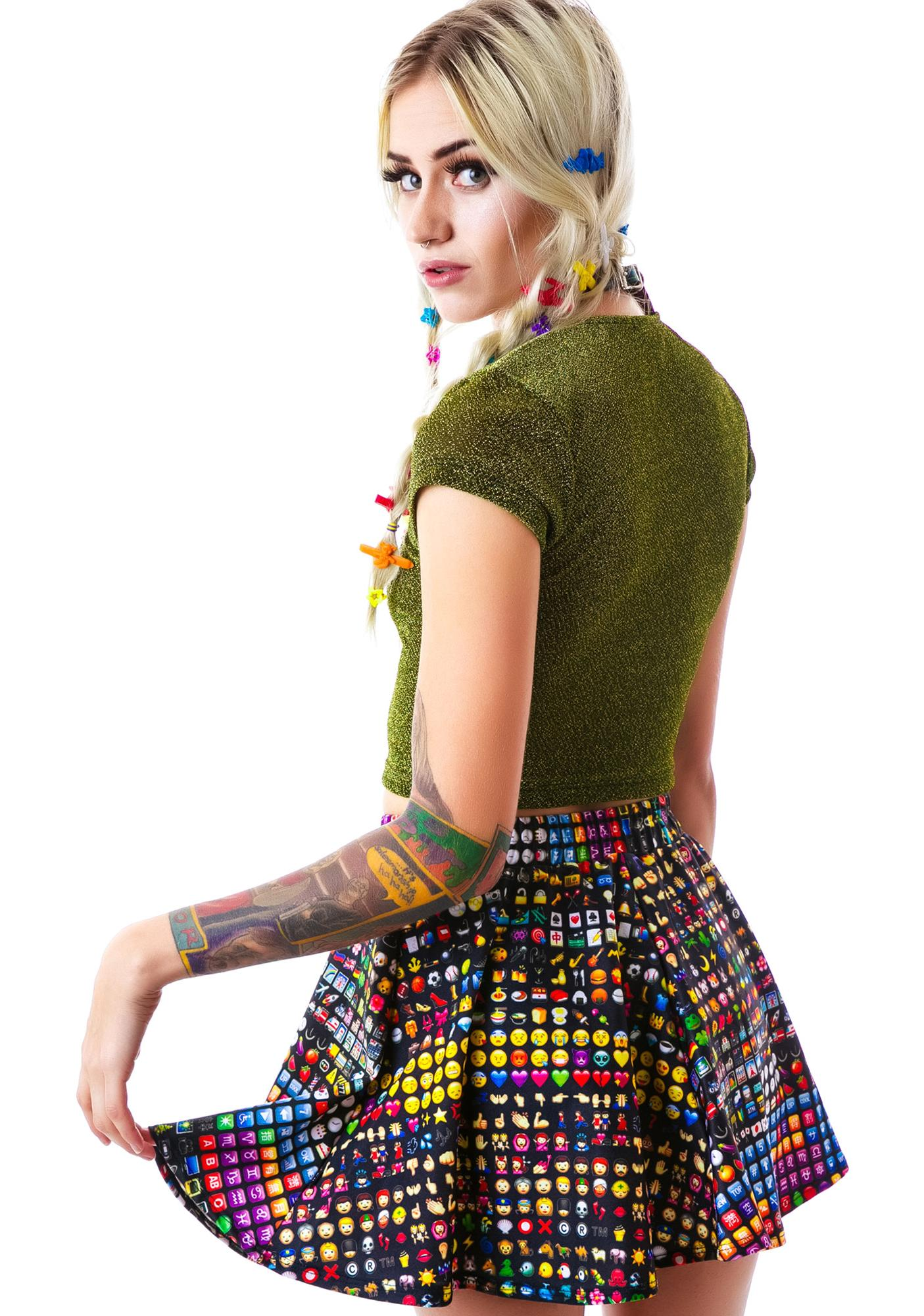 e44ca62737 ... Zara Terez Emoji Skater Skirt