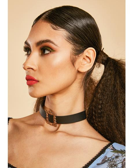 Off The Wall Ornate Frame Choker