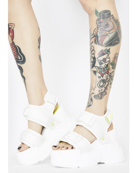 White Peach Platform Sandals
