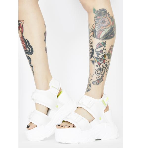 Anthony Wang White Peach Platform Sandals