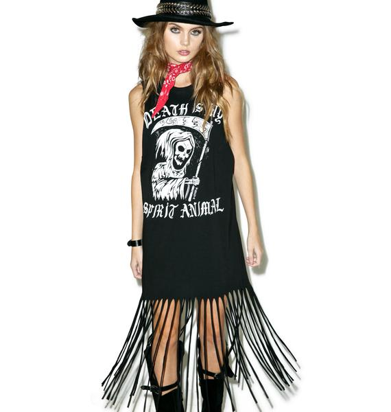 Disturbia Spirit Animal Fringe Dress
