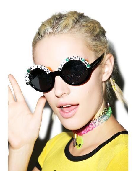 Aliens Say Hey Sunglasses