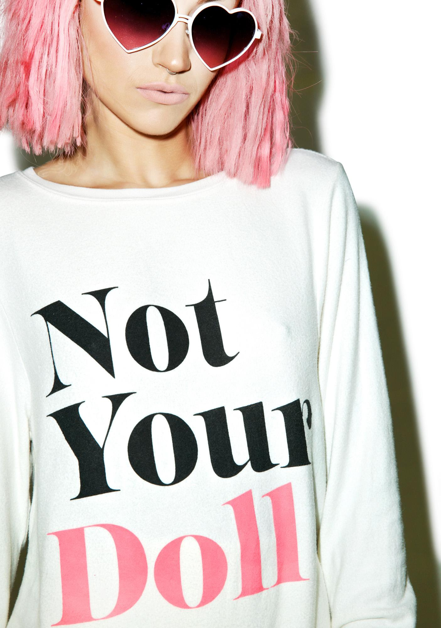 Wildfox Couture Not Your Doll Baggy Beach Jumper
