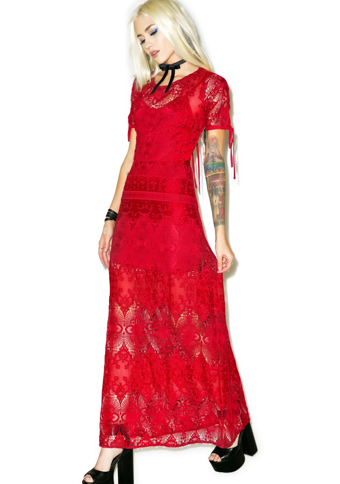 For Love & Lemons Scarlet Maxi Dress