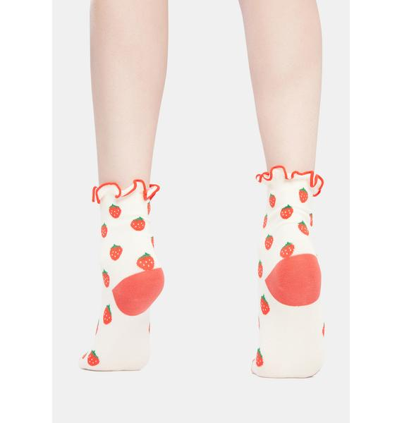 I'm So Sweet Strawberry Socks