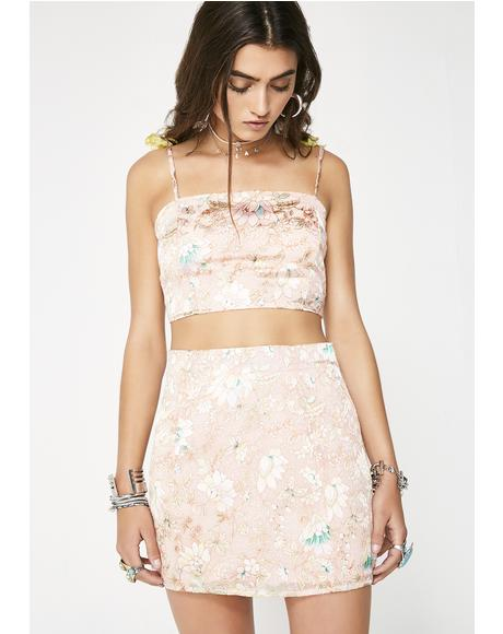Dazed Out Floral Skirt