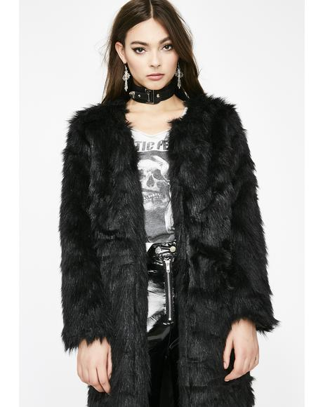 Nocturnalized Faux Fur Coat