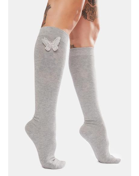 Smoke Eyes Wide Open Knee High Socks