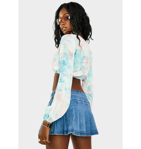 Chill Let's Groove Tie Dye Top