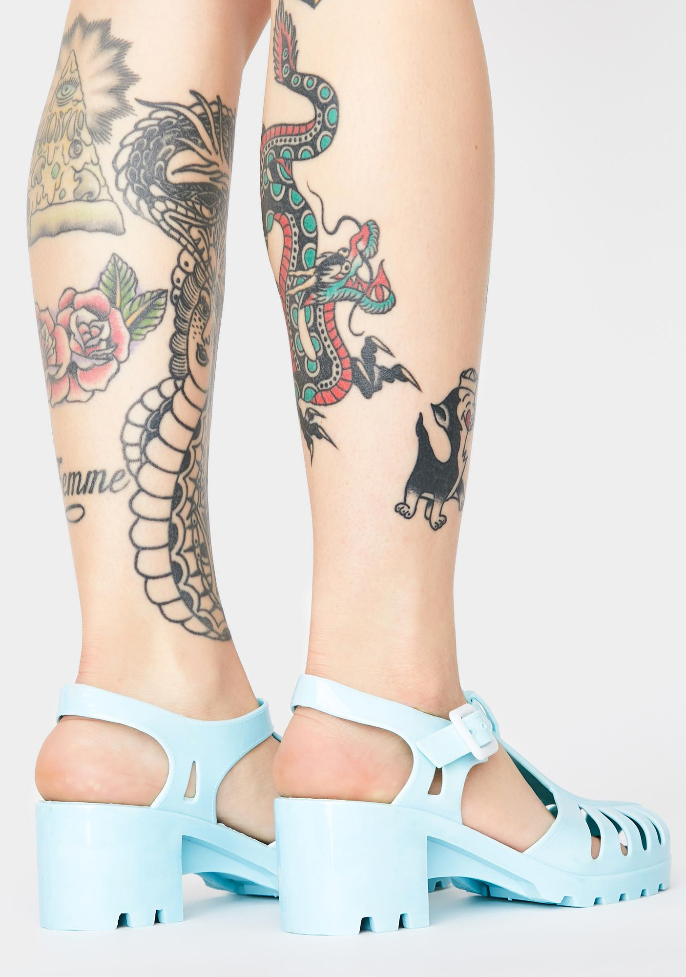 Powder Total Transparency Jelly Shoes