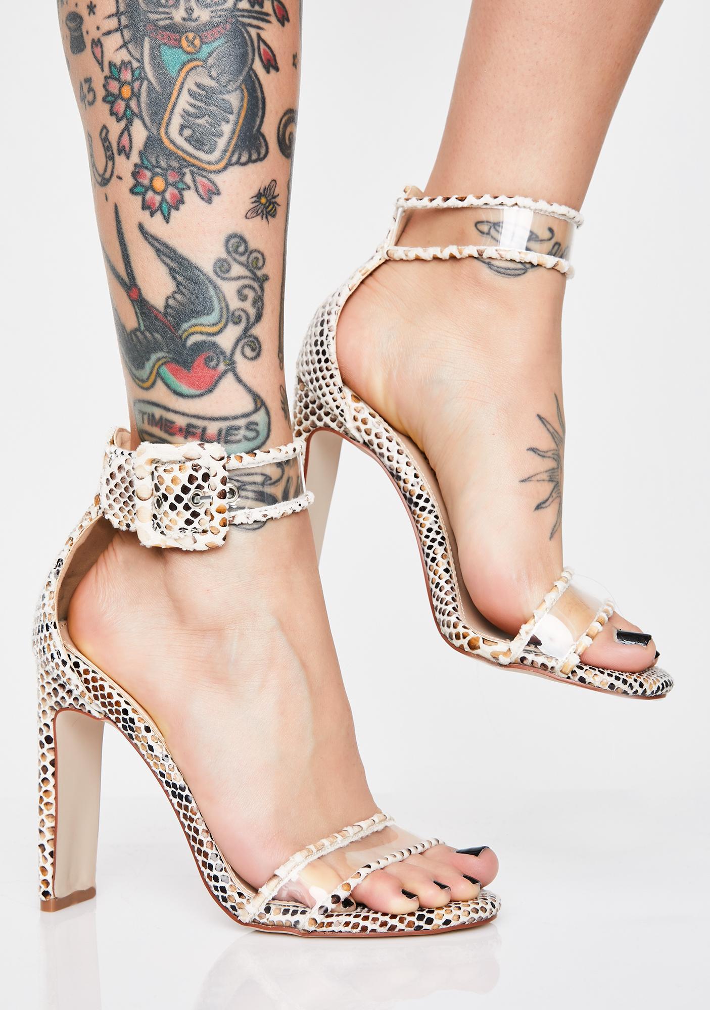 AZALEA WANG Press Charges Snakeskin Heels