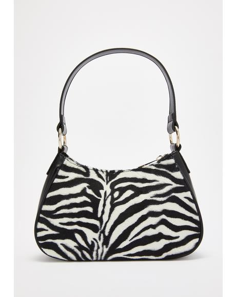 Kween Kingdom Zebra Handbag