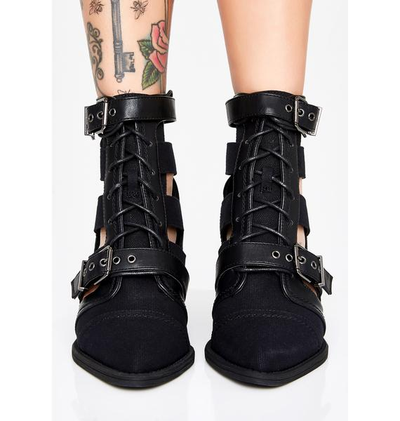 Under Control Buckle Boots