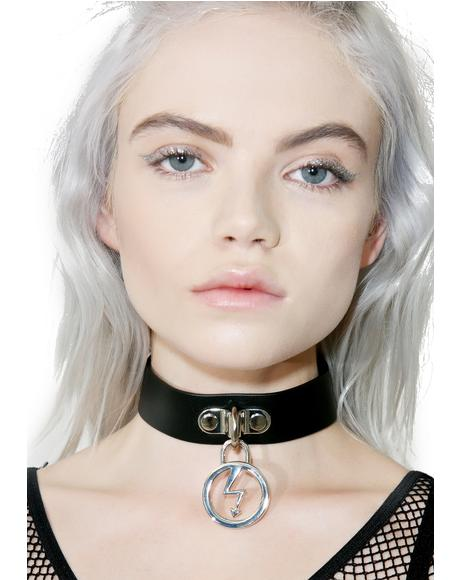 Repent Vegan Leather Choker