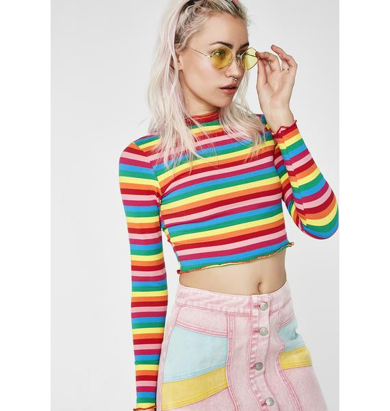 Follow My Rainbow Crop Top