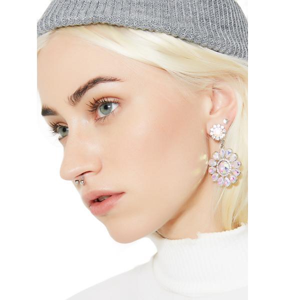 Flower Gurl Rhinestone Earrings