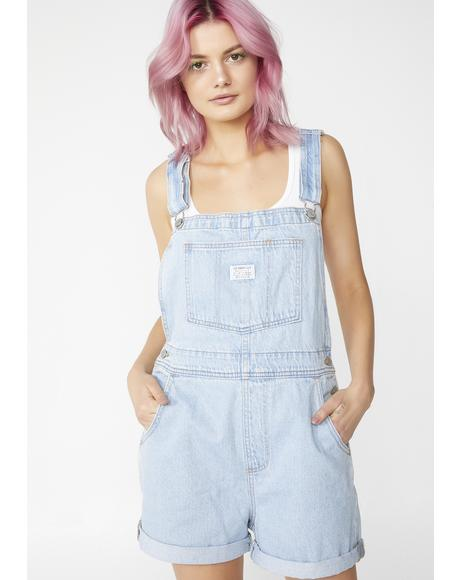 Lightwash Vintage Shortalls