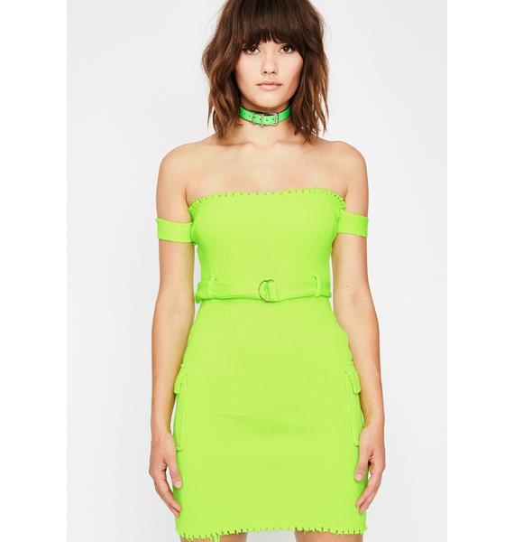 Slime All Torn Up Belted Dress
