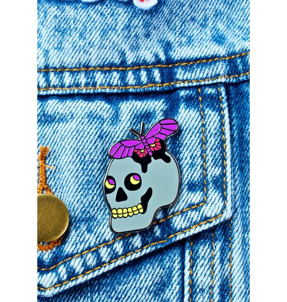 Valley Cruise Press Butterfly Skull Pin