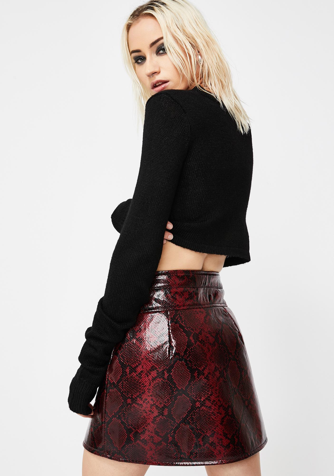 Venomous Vices Snakeskin Skirt