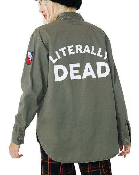 Literally Dead Army Jacket