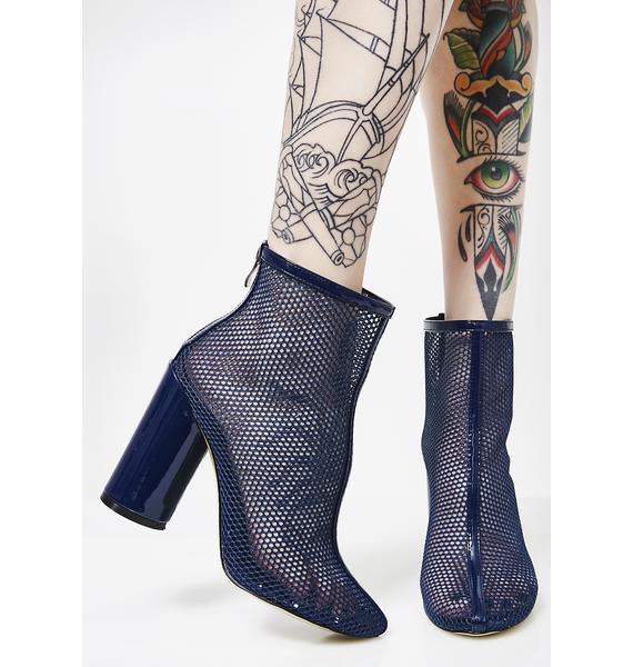 Public Desire Under Patent Heel Mesh Ankle Boots