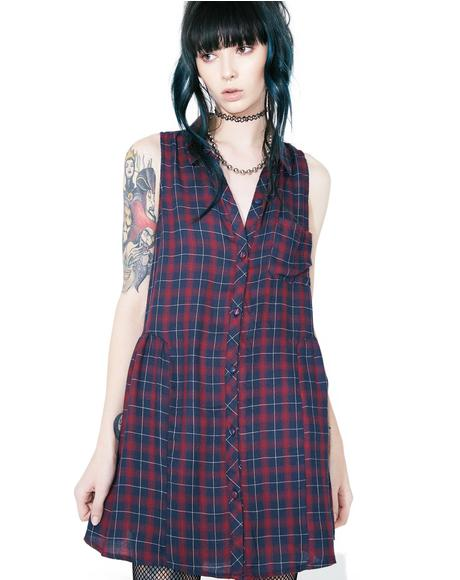Catalano Plaid Shirt Dress