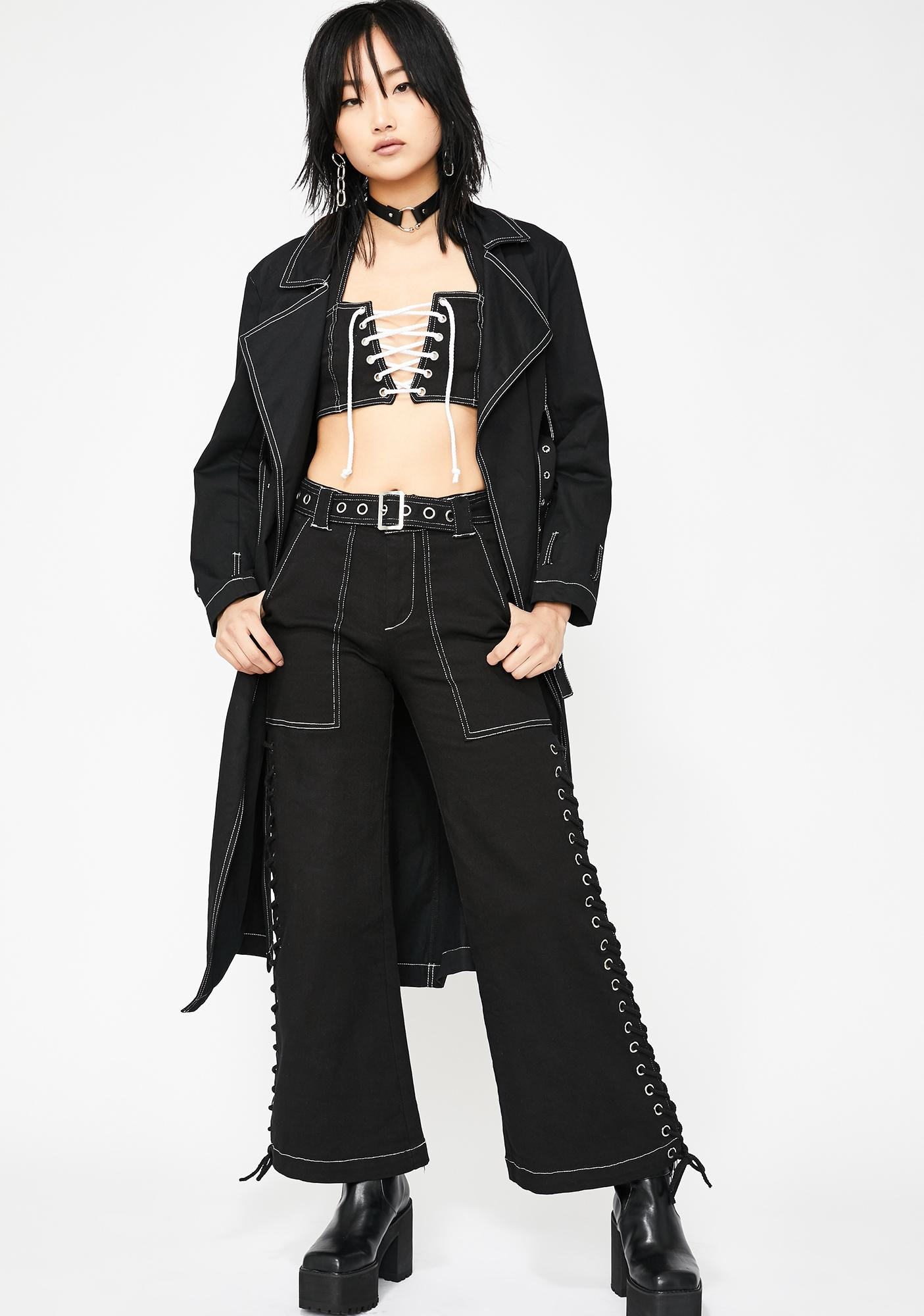 Current Mood Street Drifter Lace-Up Top