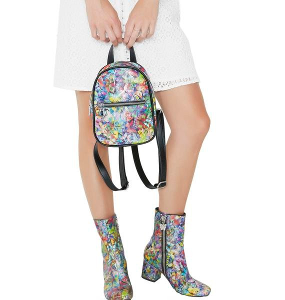 Current Mood Butterflyz Holographic Mini Backpack