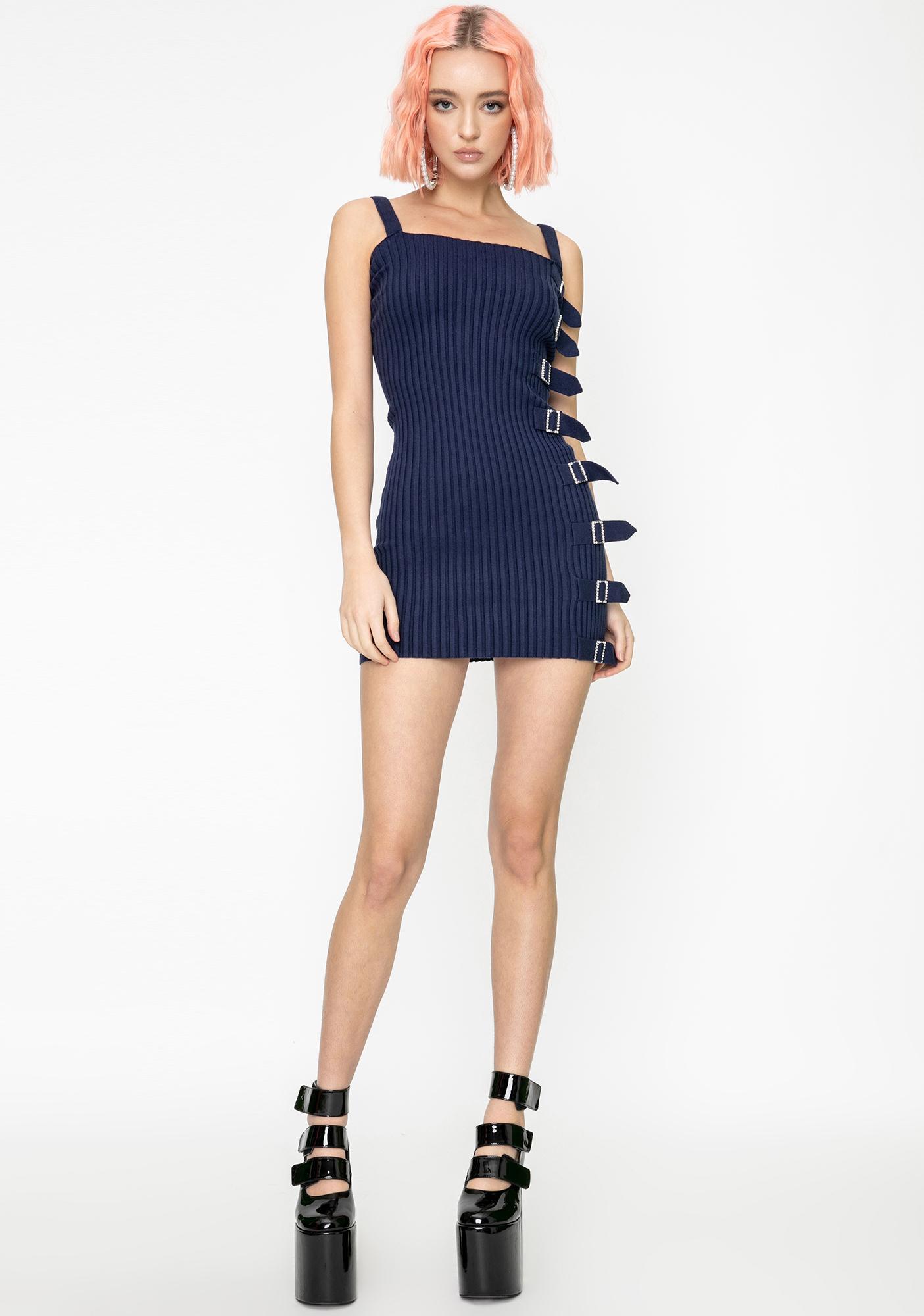 For Love & Lemons Tuileries Ribbed Mini Dress