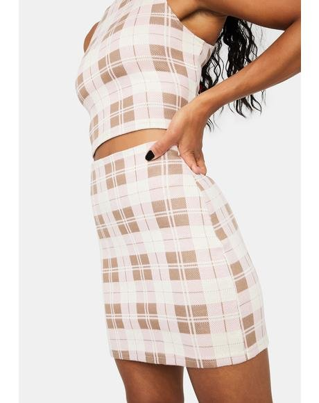 Posh Priority Plaid Mini Skirt