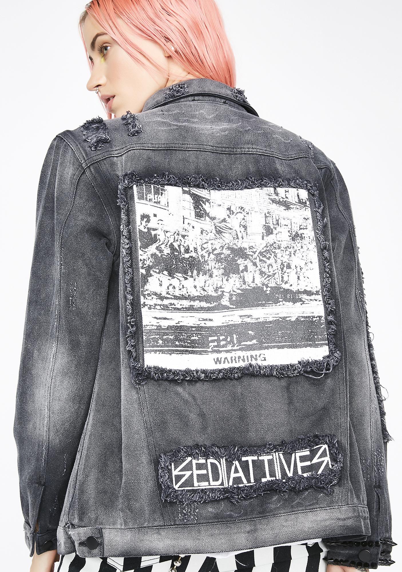 Current Mood Mutiny Studded Denim Jacket