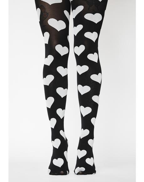 Love's Got To Do With It Opaque Tights