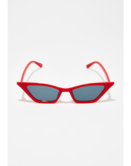 Cherry Straight To The Pointy Sunglasses
