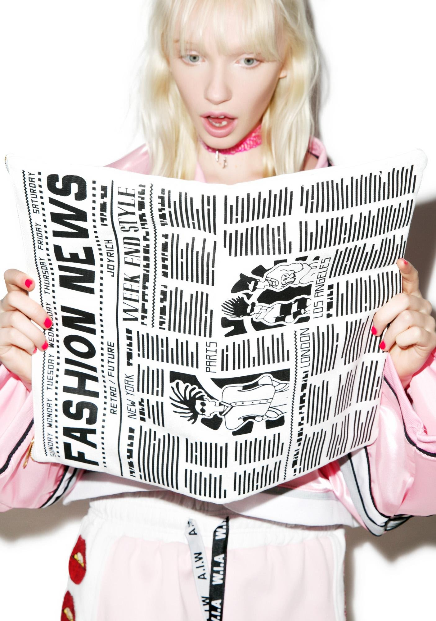Joyrich Newspaper Clutch
