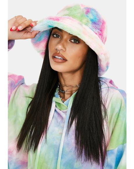 Nostalgia Fuzzy Tie Dye Bucket Hat