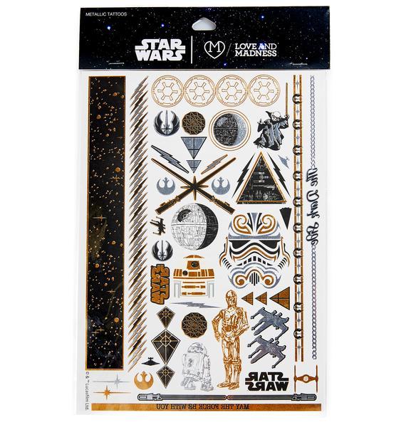 Love And Madness Star Wars Tattoo Set