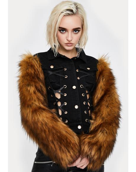 Midnight Portugal Faux Fur Jacket