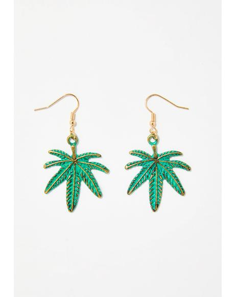 That Loud Weed Leaf Earrings